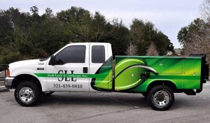 Partial Truck Wrap Lawncare