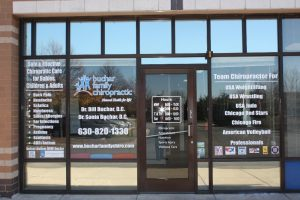 Raleigh Office Signs Copy of Chiropractic Office Window Decals 300x200